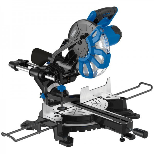 Draper 250mm 2000w 230v Slidiing Compound Mitre Saw With Laser Cutting Guide