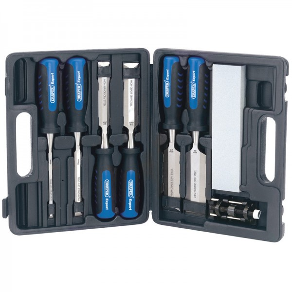 Draper Expert 8 Piece 140mm Soft Grip Wood Chisel Set