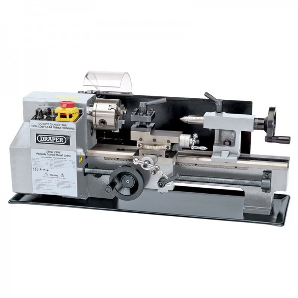 Draper 250w 230v Variable Speed Metal Working Lathe