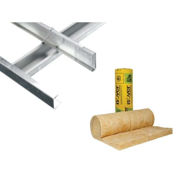 MF Ceiling Kit With 100mm Isover Insulation 50m2
