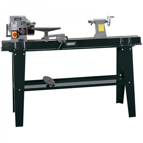 Draper 750W 230V Digital Variable Speed Wood Lathe With Stand