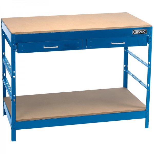 Draper Steel Workbench with Two Drawers