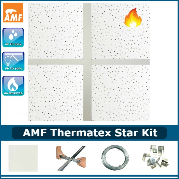 AMF Thermatex Star Kit (60 min fire rated) & 100mm Thick Thermal Insulation Pads