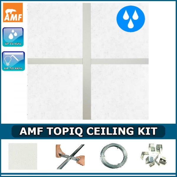 AMF Topiq Ceiling Kit (up to 100% humidity resistant) & Insulation Pads