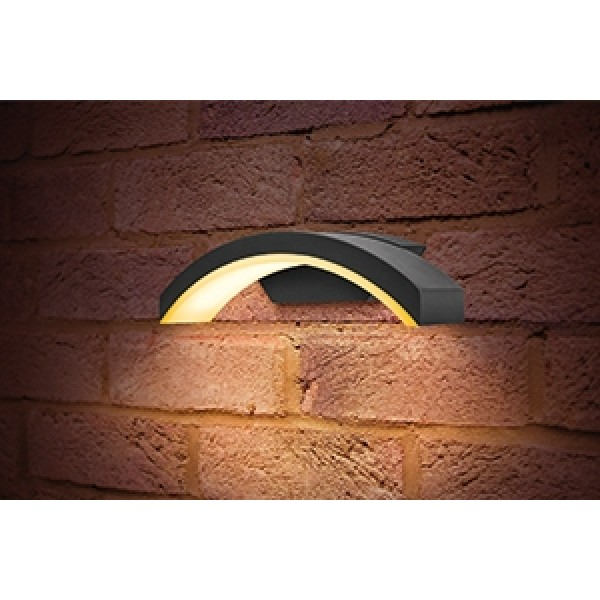 Curved Outdoor LED Wall Light 7.5W