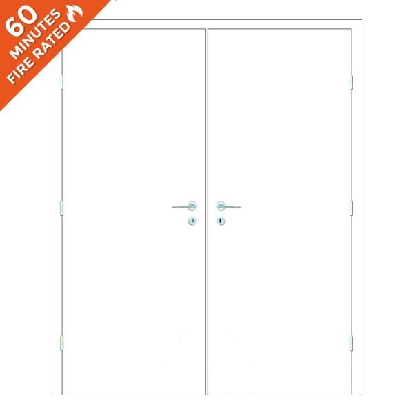 FD60 Paint Grade Double Fire Rated Door