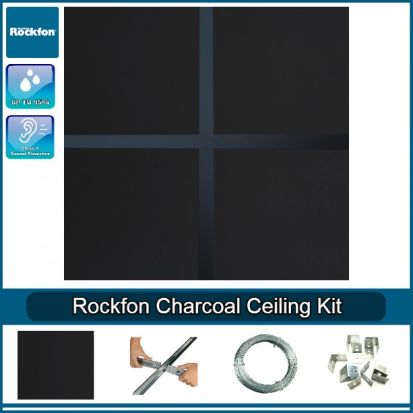 Rockfon Charcoal Black Ceiling Kit