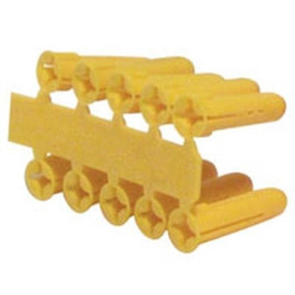 Yellow Plastic Wall Plugs x 100